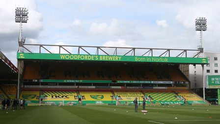 Empty stands at Carrow Road. Picture: Paul Chesterton/Focus Images Ltd