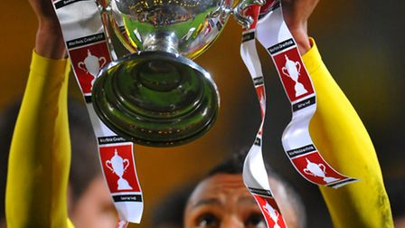 Norwich City U21 winning the Norfolk Senior Cup Final in 2013 at Carrow Road in their match against