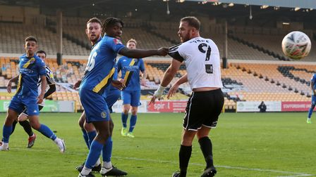 Danny Lupano in action at Port Vale Picture: Gerard Austin