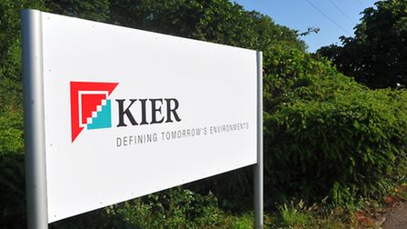 New signs for Kier and the familiar May Gurney signs removed on the company's headquarters near Trow