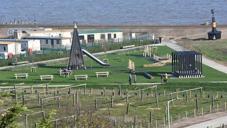 Work to create a new 1m park and gateway at The Ness in Lowestoft has been completed. Pictures: Mic