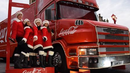 The Coca-Cola Christmas truck will not be stopping anywhere this year becaue of Covid. Pic: EDP