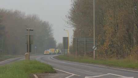 A man in his 20s has died following a crash on the A17 at Terrington St Clement, near King's Lynn. P