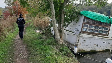 Boats left moored are more likely to be at risk of sinking. Picture: Norfolk Constabulary