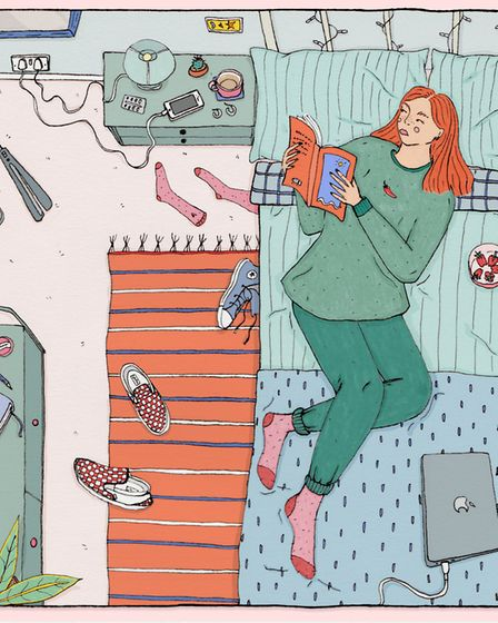 'Hanging out', but Ceara Coleman is themed around staying at home and the impact that this may have