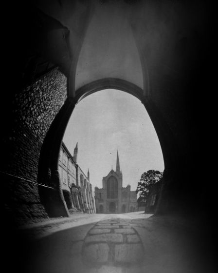 Suzanne Fossey's lockdown project was to produce these pinhole camera images, using a homemade pinho