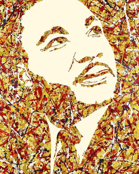 Kerwin's image of Martin Luther King reflect the Black Lives Matter movement which came to prominanc