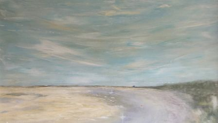 Karen Harris took to painting during lockdown for sanctury. This is Blakeney Point from Morsten. Pic