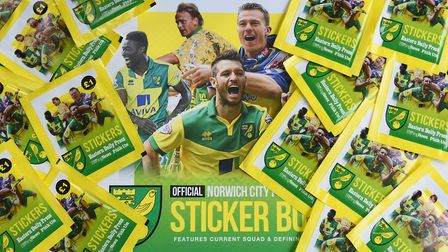 The NCFC stickers for the 2020 Eastern Daily Press and Norwich Evening News Sticker Book. Picture: D