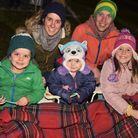 The Clements family enjoying the low bang firework display at Wroxham Barns Picture: Sonya Duncan