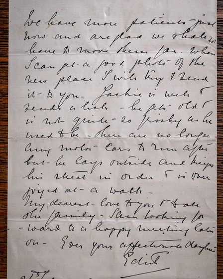 Edith Cavell's last letter to her mother, which has been donated to Norwich Cathedral. Picture: Norw