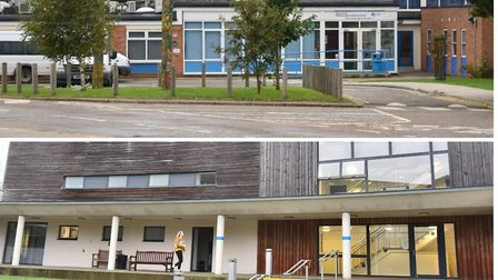 Attleborough Academy (top) and Wymondham College which has beoth confirmed coronavirus cases. Pictur