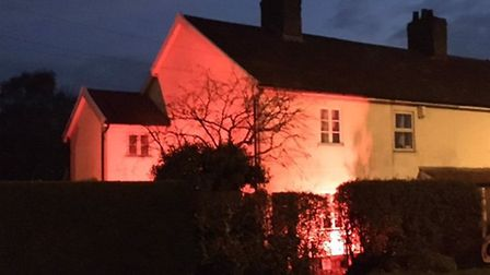 Mark Bailey's house in Attleborough will light up red to mark Armistice Day. Picture: Mark Bailey