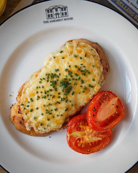 The posh cheese on toast which will be available to take away from the Assembly House's new drive-th