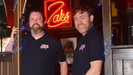 Chris Carr and Ian Hacon are rekindling the idea of a mobile caravan to sell Zaks' burgers. Pic: ED{