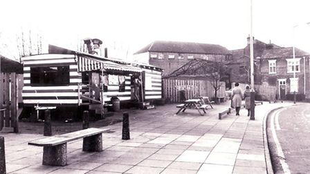 The original Zaks caravan, parked in Farmers Avenue, selling foil wrapped burgers. Pic: EDP library