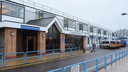 The James Paget University Hospital in Gorleston where 147 people have now died of coronavirus durin