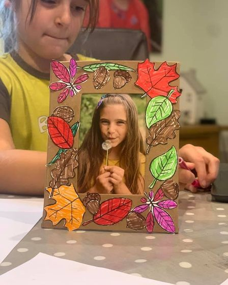 Charlotte Hosier, 8, was among the 1st Toftwood Brownies who took part in autumn-themed activities d