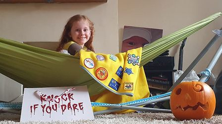 Belle Yorke, 8, was among the 1st Toftwood Brownies who took part in autumn-themed activities during