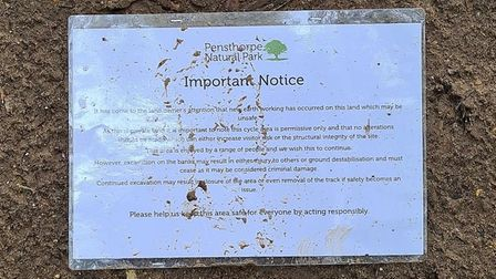 Pensthorpe levelled off what they call extreme jumps, taped off area and put up notices around the a