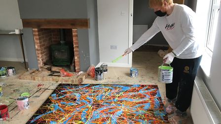 The last auction lot - a painting by Ed Sheeran himself.Picture: Courtesy Ed Sheeran: Made in Suffol