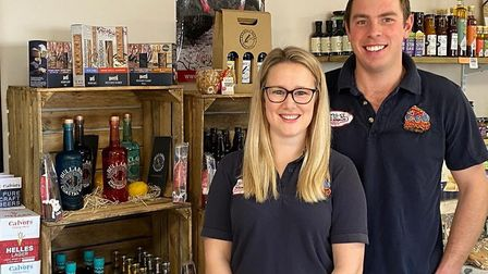 Robert and Becca Hirst in the family's farm shop at Ormesby, near Great Yarmouth. Picture: Hirst fam