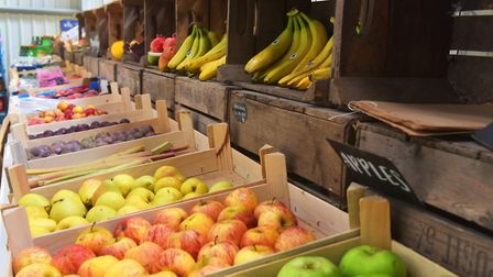 Norfolk produce at the Goat Shed farm shop at Fielding Cottage in Honingham. Picture: BRITTANY WOODM