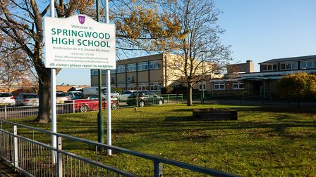 Springwood High School, where Year 10 pupils have been told to stay home from Monday Picture: Ian B