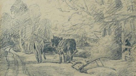 A collection of eight drawings', seven by John Constable RA (1776-1837) and the eighth by his son Li