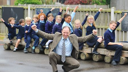 Martham Primary School which has received an outstanding Ofsted report.Headteacher Richard Denny wit