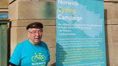 Tony Clarke, from Norwich Cycling Campaign. Pic: Norwich Cycling Campaign