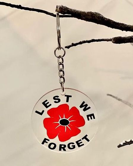 The poppy keyrings made by Felicity which has helped her raise £500 for the British legion. Picture:
