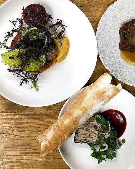 Dishes from the Benedicts Dine at Home menu. Photo: Benedicts