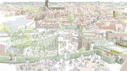 Historic England commissioned Ash Sakula Architects to come up with alternatives to the Anglia Squar