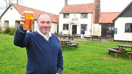 The Locks Inn at Geldeston is now open again after the recent flooding.Landlord Colin Smith.