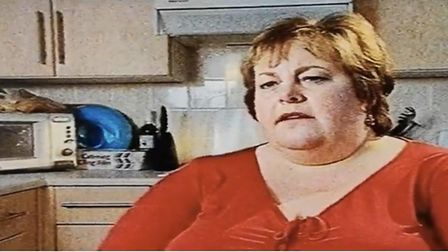 Jacquii Cann, when she was 26 stones, and took part in a TV documentary Larger than Life. Pic; Jacqu