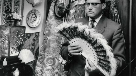 Gordon Suckling purchased many of his items as auctions in East Anglia. Picture taken February 1960.