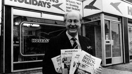 James Hoseason, chairman of Hoseasons Holidays, c.1991. Picture: Archant Library