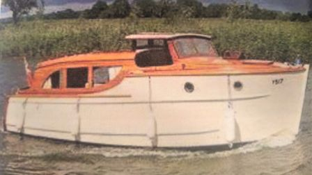 The Lady Pamela, the first Broads boat his parents and Paul hired from Reedham. Picture: Paul Thomas