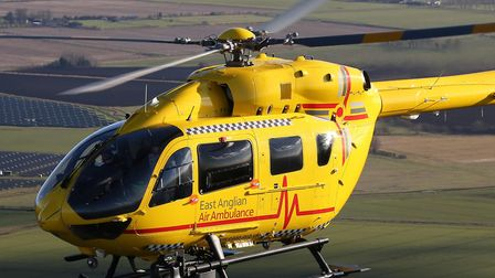 The East Anglian Air Ambulance responded. Picture: EAAA