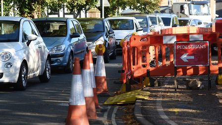 Roadworks in Attleborough have plagued the town for more than two years. Picture: DENISE BRADLEY