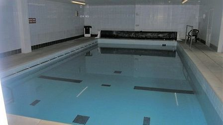 Splash out on a property purchase with a difference as this swimming pool goes up for sale. Pic: Bra