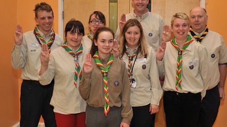 2nd Wisbech Orchards Scout Group, Disco and presentation evening. Scout Group leaders, Picture: Stev