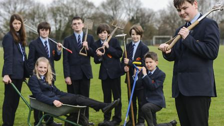 Pupils in the SNAG team at Neatherd High School in Dereham have been presented with a vegetable trug