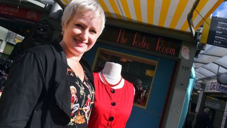Caryn Louis at The Retro Room, Norwich Market. PICTURE: Jamie Honeywood