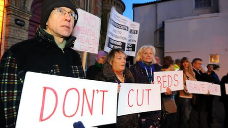 A protest rally is being held to protest at bed cuts at Carlton Court hospital.It is being held to c