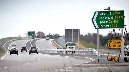 The final stretch of the NDR (Broadland Northway), between Wroxham Road and Postwick opened in April