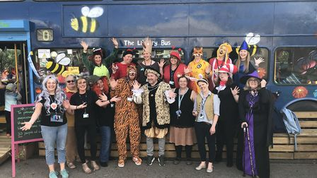The teaching staff at Mattishall primary dressed up as their favourite book characters to celebrate