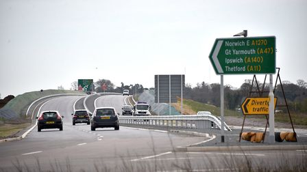 A driver was caught speeding at 107mph on the Norwich Northern Distributor Road. Picture: ANTONY KE