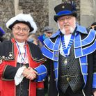 Cromer crier Jason Bell with Ancient and Honourable Guild of Town Crier Championships overall winner